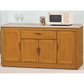 櫥櫃 餐櫃 HE-381-3 潘朵拉香檜5.4尺石面碗碟櫃【大眾家居舘】