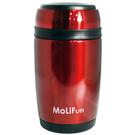 MoliFun 魔力坊 不鏽鋼真空保鮮保溫燜燒食物罐550ml-紅色[衛立兒生活館]