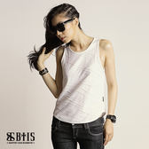 【BTIS】立體條紋 背心  / 白色