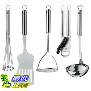 [104美國直購] 廚房小工具5件套 WMF 1870089999 Profi Plus 5-Piece Let s Get Started Tool Set, Silver