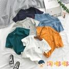 兒童短袖t恤卡通刺繡夏季寶寶圓領純棉體恤上衣男童t恤【淘嘟嘟】