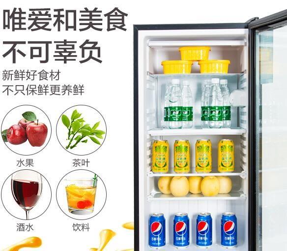 冰吧小冰箱宿舍冷藏柜小型家用單門茶葉保鮮柜透明玻璃留樣展示柜 QQ2552『樂愛居家館』