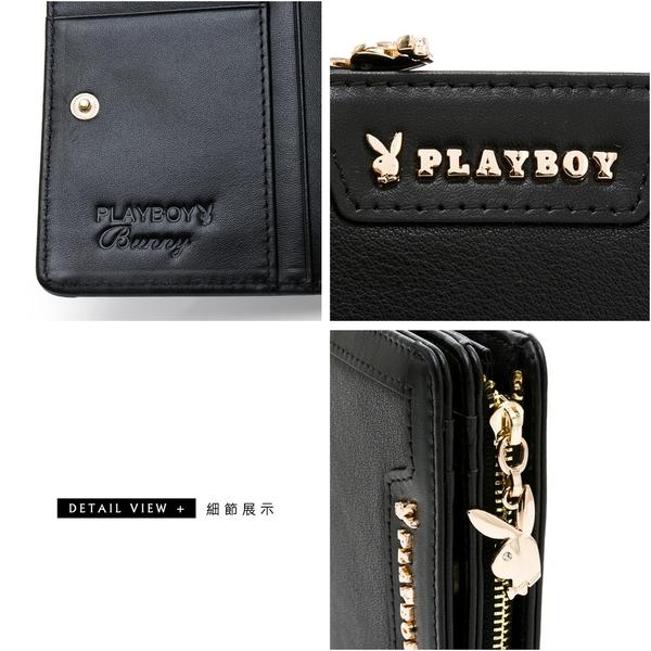 PLAYBOY - 短夾 摩登時代系列 - 黑色