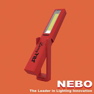 【NEBO】Larry Tilt任意傾斜COB LED手電筒-經典紅