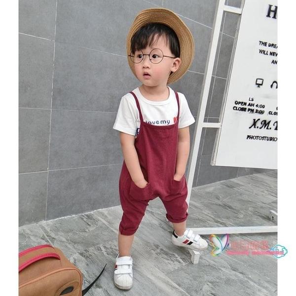 兒童吊帶褲 寶寶吊帶褲男1-3歲夏季薄款童裝女童棉質韓版寬鬆兒童春秋長褲子 3色