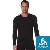【ODLO瑞士】男 加強保暖型圓領 長袖內層衣『黑』155162 Effect銀離子抗菌抗臭/內薄刷毛 保暖衣 機能