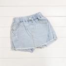 小刷破淺白刷色鬚邊牛仔褲裙 牛仔裙 短裙 裙子 褲子 兒童 女童 大童 童裝 橘魔法 現貨 童裝