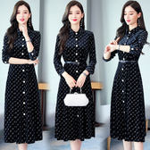 洋裝 8937#新款女秋冬裙子氣質闊太太高貴洋氣披風連身裙HF303快時尚