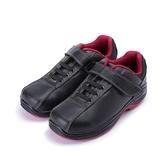 PAMAX 黏帶寬楦耐油鋼頭鞋  黑 女