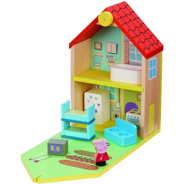 《 Peppa Pig 》粉紅豬小妹- 豪華房屋(木製) / JOYBUS玩具百貨