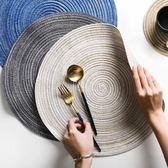 半房日式苧麻餐墊隔熱墊螺紋圓形餐墊杯墊手工編織 露露日記