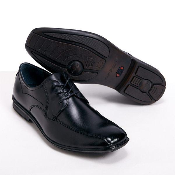 Hush Puppies ENERGY 能量系列 尖頭綁帶皮鞋男鞋-黑