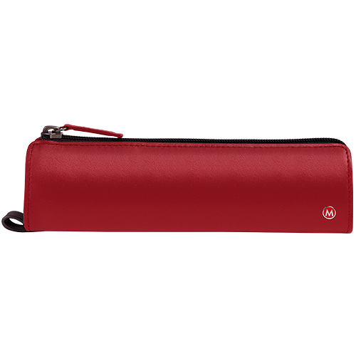Mondaine 瑞士國鐵牛皮筆袋-紅/W090309R
