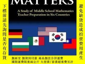 二手書博民逛書店Teacher罕見Education Matters: A Study of Middle School Math