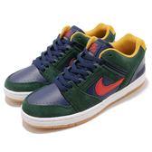 Nike 滑板鞋 SB Air Force II Low 綠 藍 麂皮 舒適緩震鞋墊 運動鞋 男鞋【PUMP306】 AO0300-364