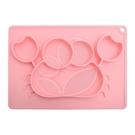 Expect 兒童矽膠餐盤(螃蟹款) - 粉色【佳兒園婦幼館】