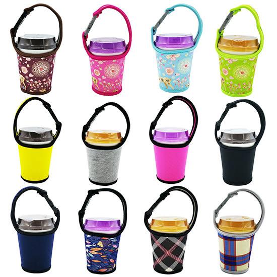 手搖飲料杯套 奶茶 咖啡杯 通用布套 潛水料 環保 手提袋 限塑 提袋【P130】♚MY COLOR♚