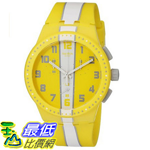 [美國直購] Swatch Unisex SUSJ100 Amorgos Analog Display Quartz Yellow Watch 手錶