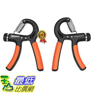 [美國直購] MegaMetz B01BTDSJ54 握力鍛鍊兩件組 可調磅數 Hand Grip Strengthener Set, x2 Hand Strengthener