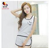 夏季吊帶睡衣短袖運動套裝DL14890『伊人雅舍』