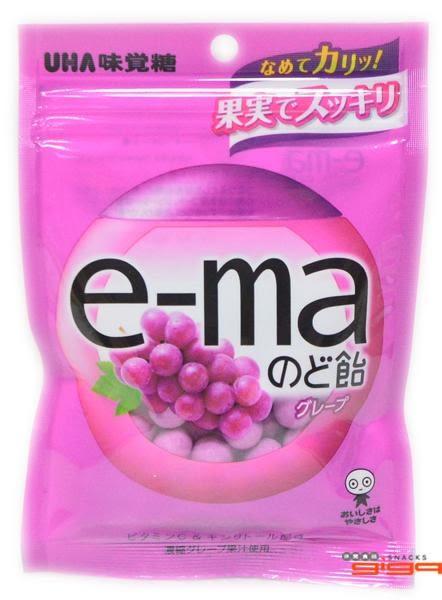 【吉嘉食品】UHA味覺糖 e-ma葡萄水果喉糖(袋裝) 1包50公克50元,日本進口{4514062957388}[#1]