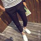 休閒褲彈力緊身顯瘦男褲社會小伙九分小腳褲修