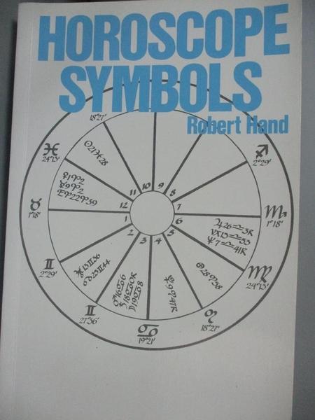 【書寶二手書T1/星相_IGL】Horoscope Symbols_Hand, Robert
