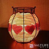【鹽夢工場】創意造型鹽燈-愛心燈籠