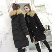 冬季加厚棉衣女中長款大毛領韓版學生棉服新款女式棉襖外套   小時光生活館