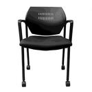[COSCO代購] W129643 Musical Chairs Impressa 輪型扶手訪客椅 - 黑色椅面 2入