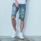 出清不退換 韓國製【OBIYUAN】 牛仔短褲 洗色 破褲 彈性 單寧短褲 【BPA801】