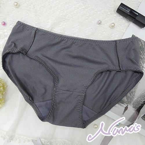 【露娜斯】吸濕排汗涼爽紗透氣舒適三角內褲【膚/灰】台灣製P8351
