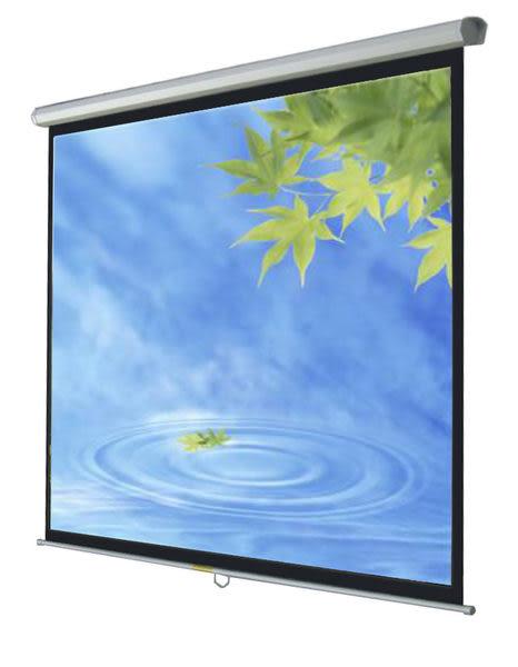 [kamas卡瑪斯投影機銀幕] 118吋 壁掛式手拉 蓆白下拉式投影布幕219 × 219cm   原廠一年保固 含稅含運