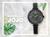 【時間道】NATURALLY JOJO  個性簡約仕女腕錶 / 黑貝面黑鋼(JO96914-88F)免運費