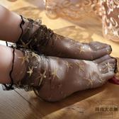 3雙裝 日系性感蕾絲網紗鏤空堆堆襪超薄透氣中筒短襪【時尚大衣櫥】