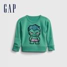 Gap男幼童 Gap x Marvel 漫威系列植絨休閒上衣 862713-草綠色