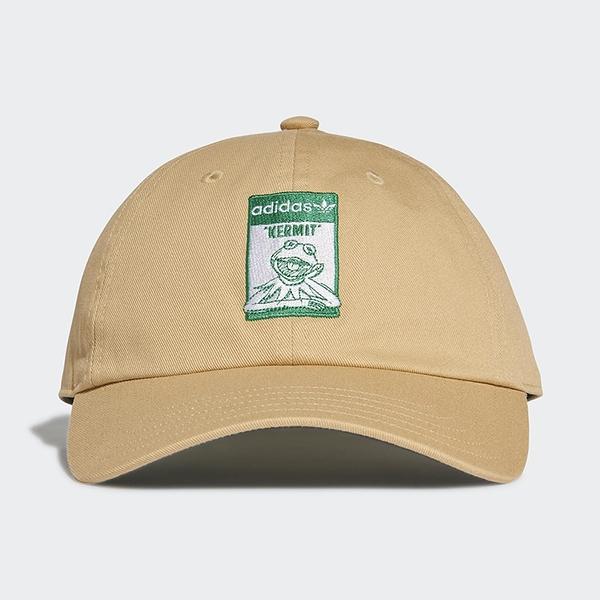 ADIDAS DISNEY KERMIT 帽子 老帽 休閒 迪士尼 科米蛙 聯名款 卡其【運動世界】GN2290