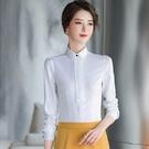 白色花邊領口小資新鮮人長袖襯衫 (不含領結) [20X085-PF]美之札