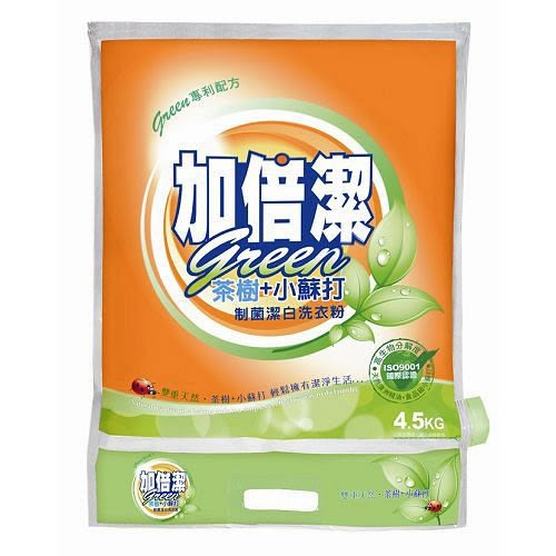加倍潔制菌潔白洗衣粉-茶樹+小蘇打配方4.5kg【愛買】
