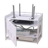 無線路由器收納盒機頂盒置物架WIFI收納盒電源線理線牆上免打孔 童趣潮品