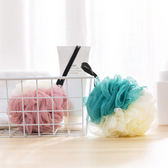 【滿550折50】WaBao 大號沐浴球 素色 浴花 PE 洗澡 帶吊繩 易起泡沫 =Z02165=
