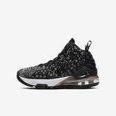 Nike Lebron XVII 17 GS [BQ5594-002] 大童鞋 運動 休閒 籃球 包覆 避震 穿搭 黑白