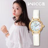 【公司貨保固】New Wicca 小雛菊限定款 KH4-921-90 太陽能時尚腕錶