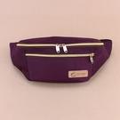 雨朵防水包 U331-007 素色貝魯多腰包-紫紅