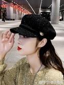貝雷帽女韓版潮秋冬天帽子女八角帽英倫復古時尚網紅款百搭鴨舌帽  (橙子精品)