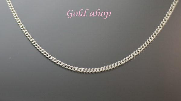╭☆ gold shop ☆╯義大利 585 白K金 項鍊 長度40公分 [ kn 070 ]-0.73