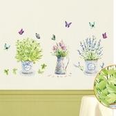 創意無痕壁貼 蝴蝶花瓶 60x90cm