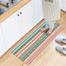 廚房/臥室/地墊/頂級PVC皮防水防滑皮革地墊45X150CM/民族風【半島良品】