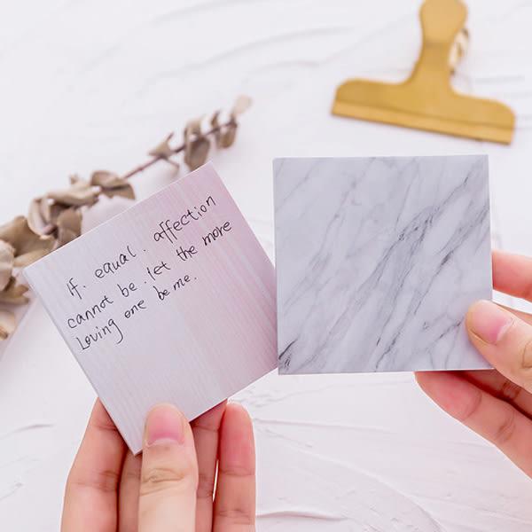 【BlueCat】自然原生石頭紋便利貼 N次貼 便條紙 (正方形)