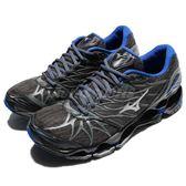 Mizuno 慢跑鞋 Wave Prophecy 7 Nova 灰 藍 避震 男鞋 運動鞋 高階款式【PUMP306】 J1GC1817-03